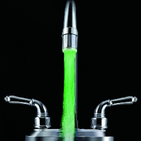 Red Green Blue LED Light Temperature Sensor Water Tap Faucet...