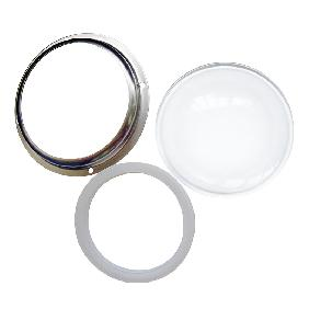 100mm Convex Glass Lens and Stainless Steel Holder Ring for 200W White High Power LED