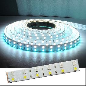 5M RGB White Multichip 5050 SMD 480pcs LED Bulb Double Row Light Ribbon Strip 24V