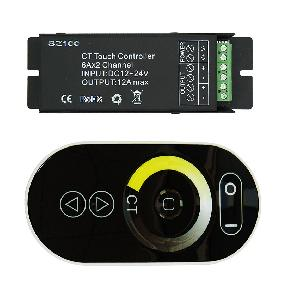 Color Temperature Adjustable LED Strip Touch Screen Remote Controller DC 12V-24V