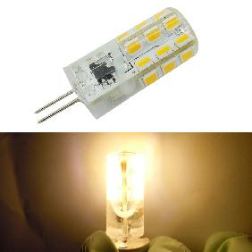G4 2835 SMD 24 LED Silicone Cool White/Warm White Light Bulb Lamp AC 220V