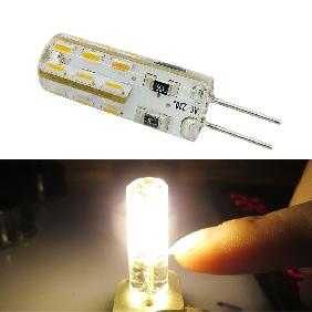 G4 3014 SMD 24 LED Silicone Cool White/Warm White Light Bulb Lamp AC 220V