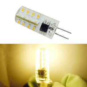 G4 3014 SMD 32 LED Silicone Cool White/Warm White Light Bulb Lamp AC 220V