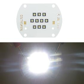 30W SAMSUNG LED Copper Board White Light 6000lm View Angle 140 Degree