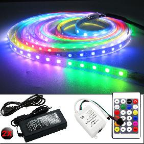WS2811 Individual Addressable 5M 300 Leds 5050 RGB LED Strip + Controller + PSU