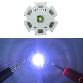 Cree XPE XP-E R2 Cool White LED with Color Temperature 8000K-10000K