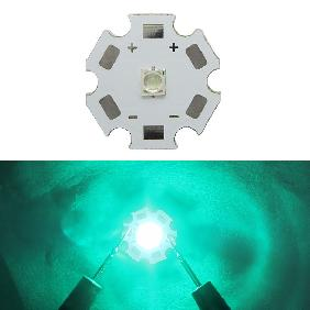 Epileds 1W~3W High Power LED 490nm~495nm Cyan Light on 20mm Star PCB Board