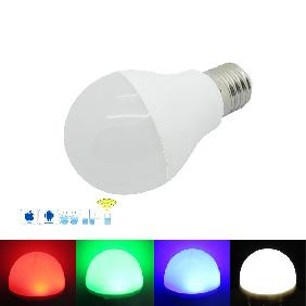 4x 10W RGB White Full Color LED Bulb Lamp Light 2.4G RF Remote WiFi Controller