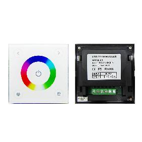 DC12V-24V RGB LED Dimmer Controller Touch Panel Wall Switch L86xW86xH36 Model D3