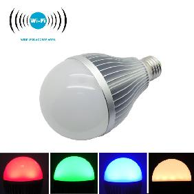 2.4G E27 9W RGBW RGB Cool White/Warm White Full Color Dimmable WiFi LED Bulb