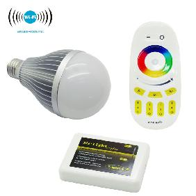 2.4G 9W E27 RGBW CW/WW Full Color Dimmable LED Bulb WiFi Touch Remote Controller