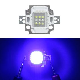 10W Custom LED Emitter 10 Watt Blue White Dual Color For Aquarium Light DIY (Blue White=3:6)