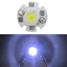 1W Cool Cold White High Power LED Color Temperature 6000K/10000K/15000K/20000K