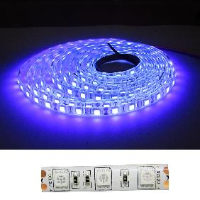 16.4ft 5M 3528 5050 SMD LED Ultra Violet UV Purple Light Strip Waterproof DC 12V