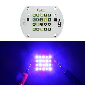 60W UV 420nm Blue 450nm 470nm Red 620nm Cool White Full Spectrum Grow Light LED
