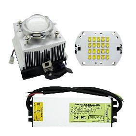 Philips 60W White/Royal Blue LED 60 Watt Led Driver Aluminium Heatsink Lens DIY