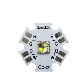 SemiLEDs 5050 RGBW RGB White High Power Mixing Color LED Emitter 20mm Star PCB