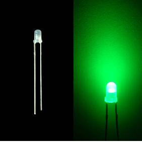 3mm Diffused Red Green Blue Yellow White LED Bulb Light Milky Frosted Lens