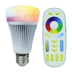 2.4G 8W RGBWW RGB White 2700K-6500K LED Light Bulb Lamp 4-Zone RF Remote Control