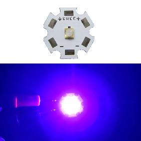 5W 5 Watt Ultra Violet UV 380nm-385nm LG Chip High Power LED DC 3.2-3.6V 1.5A