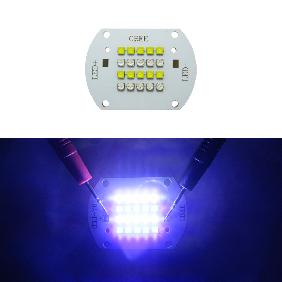 100W Cree XT-E LED Multichip White 6000-6500K Royal Blue 450-452nm Dual Color Light