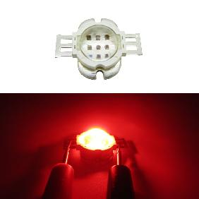 10W Epileds 42mil Red 620-630nm High Power LED DC 6-7V 1A 60 Degree Lens