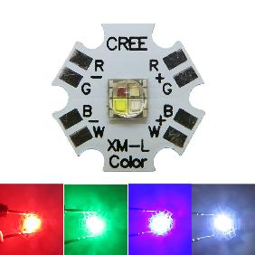12W RGBW 4-Chip High Power LED 12 Watt RGB White Multicolor Change Light
