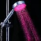 7-Color Changing RGB Multicolor LED Shower Head Colorful Waterfall Home Bathroom