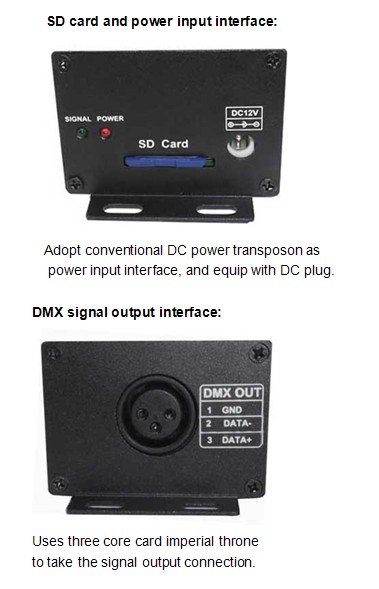 WWireless-SD-card-DMX-signal-transmitter