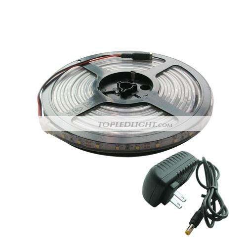 5m warm white 3528 smd led light strip waterproof 12v kit by