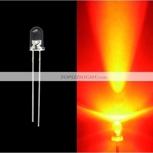 8mm Orange Led: 5mm 5000mcd Orange LED Lamp Light Bulb [BY-LD5OR]
