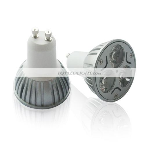 gu10 3w warm white high power led light bulb 3 1w by lb3x1wx us topledlight. Black Bedroom Furniture Sets. Home Design Ideas