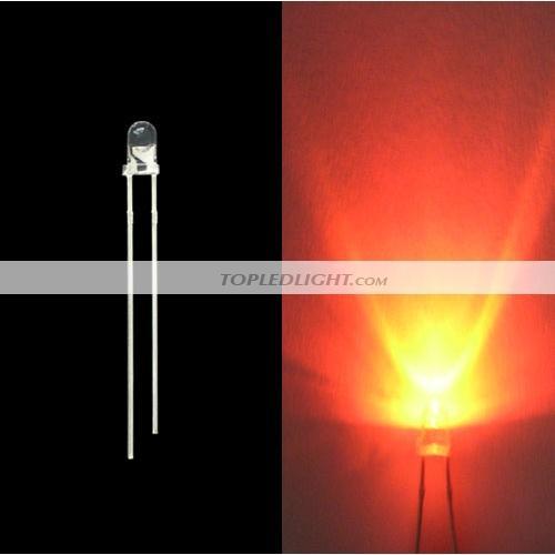 8mm Orange Led: 3mm 5000mcd Orange LED Lamp Light Bulb [BY-LD3OR]