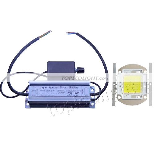 50w Led Driver Power Supply: 50W White High Power LED Light + Dimmable LED Driver Power