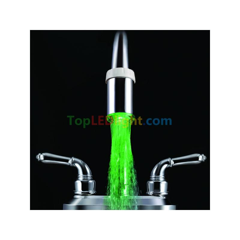 Red Green Blue RGB LED Light Water Temperature-sensitive Tap Faucet ...