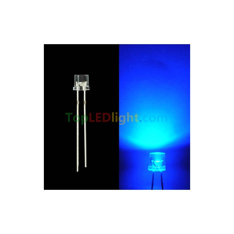 8mm Orange Led: 5mm Blue Flat Top Head Wide View Angle LED [BY-LDFT5BL