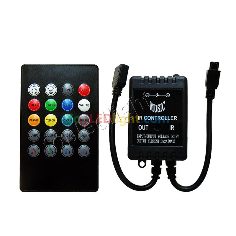 Audio infrared remote controller music sound sensor for rgb led audio infrared remote controller music sound sensor for rgb led strip light aloadofball Gallery