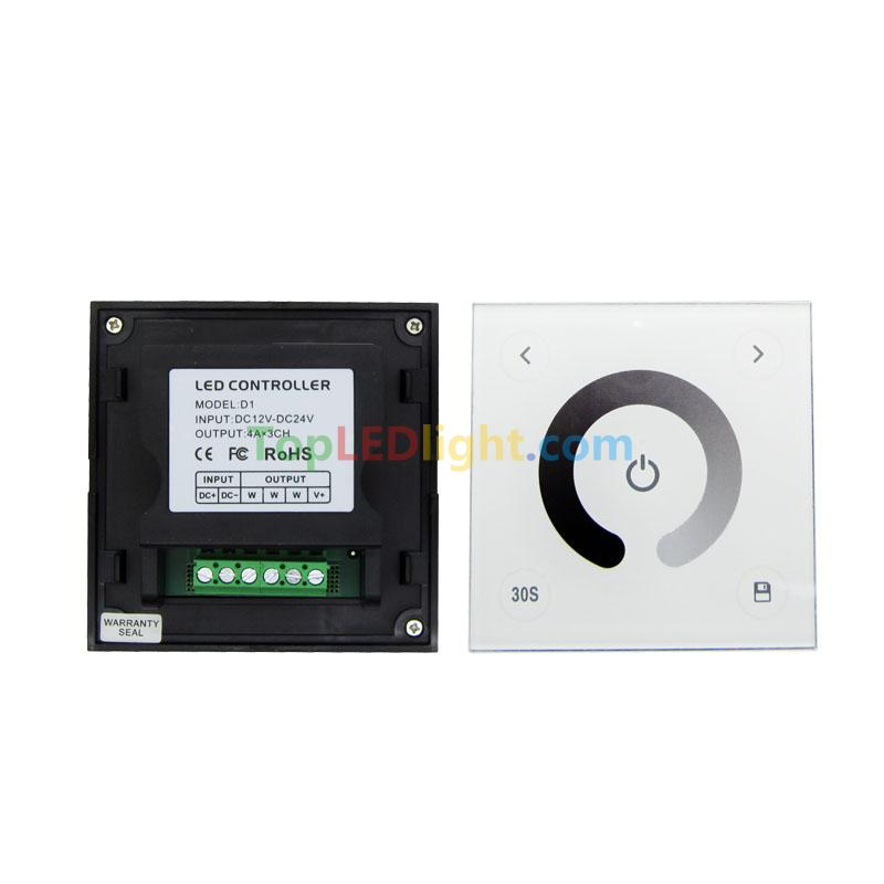 Led Strip Light Wall Dimmer: Touch Panel Dimmer Wall Switch Change Brightness For 3528