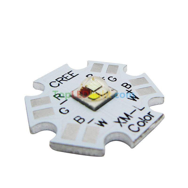 Cree XLamp XM-L RGBW RGB White Color LED Emitter 4-Chip 20mm Star ...