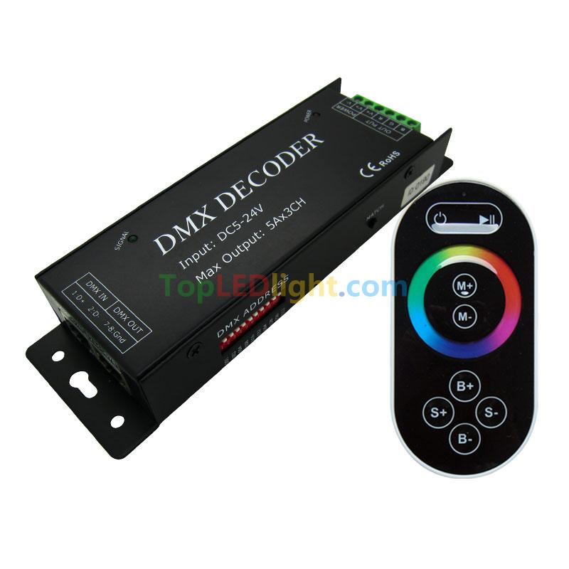 Touch remote control dmx decoder rj45 cable interface for 5050 rgb touch remote control dmx decoder rj45 cable interface for 5050 rgb led strip mozeypictures Choice Image