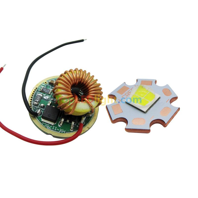 Cree XLamp XHP70 Cool White LED 6V 4.8A 5 Mode Dimming Led Driver