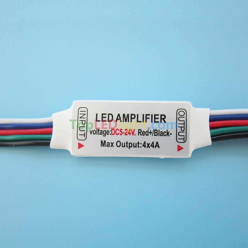 quality design 07323 5a444 Mini RGBW LED Amplifier DC 5V~24V for RGB White or Warm ...