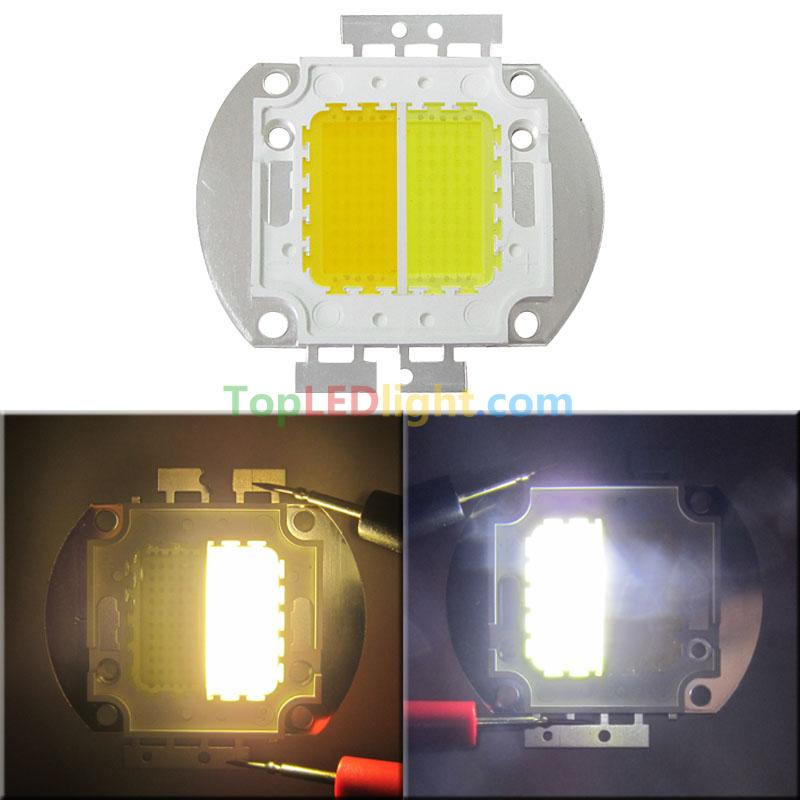 100w High power  2 channel led Dimmable light white 6000k warm white 3500k